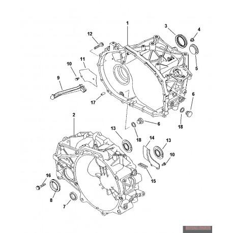 uszczelniacz manualnej skrzyni biegów od strony sprzęgła 5191358AA