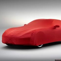 Oryginalny pokrowiec na auto Chevrolet Corvette czerwony