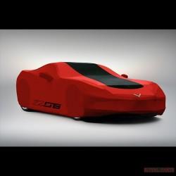 Oryginalny pokrowiec na zewnątrz Chevrolet Corvette czerwony
